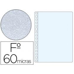 Funda multitaladro esselte folio polipropileno 60 mc piel de naranja caja de 100 unidades