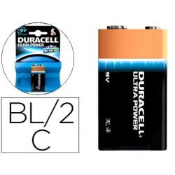 Pila duracell alcalina ultra power 9v blister de 1 unidad