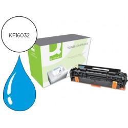 Toner q-connect compatible hp ce411a color laserjet m351a / 451dn / 451dw / 451nw / 375nw / 475dn / 475dw cian 2.600 pag