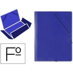 Carpeta gomas solapas carton saro tamaño folio azul