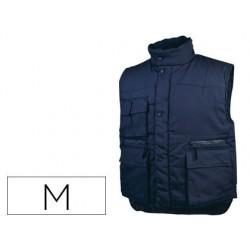 Chaleco deltaplus multibolsillos con cremallera cintura elastica color azul naranja talla m