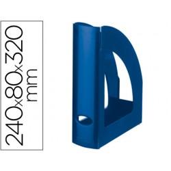 Revistero plastico q-connect azul opaco