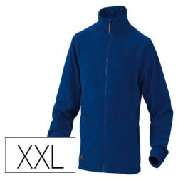 Chaqueta deltaplus polar con cremallera 2 bolsillos color azul talla xxl