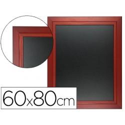 Pizarra negra liderpapel mural de madera con superficie para rotuladores tipo tiza 60x80cm