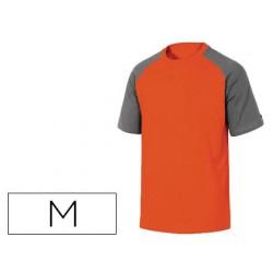 Camiseta de algodon deltaplus color gris naranja talla m
