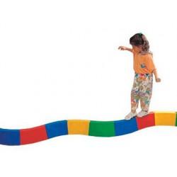 Pasillo amaya para equilibrio acoplable semicircular curvo longitud 30cm caja de 10 unidades