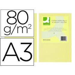 Papel color q-connect din a3 80gr champagne paquete de 500 hojas
