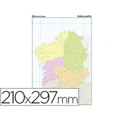 Mapa mudo color din a4 galicia politico