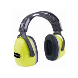 Casco antiruido deltaplus con orejeras ajustable en altura norma snr 33 db color amarillo fluorescente-negro