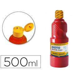 Tempera liquida giotto escolar lavable 500 ml bermellon