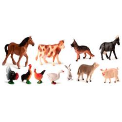 Juego miniland animales granja 11 figuras