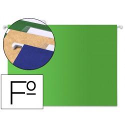 Carpeta colgante liderpapel folio verde