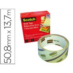 Cinta adhesiva scotch 845 book tape 50,8mmx13,7 mt