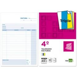 Talonario liderpapel facturas cuarto original y 2 copias t316 con i.g.i.c.
