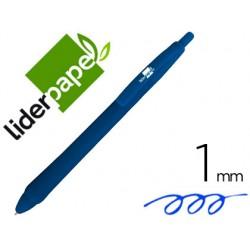 Boligrafo liderpapel gummy touch retractil 1,0 mm tinta azul