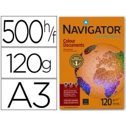 Papel fotocopiadora navigator din a3 120 gramos paquete de 500 hojas