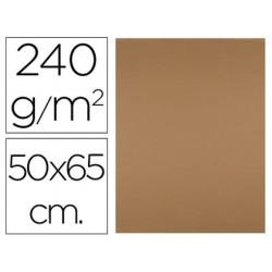 Cartulina liderpapel 50x65 cm 240g/m2 marron escolar paquete de 25 unidades