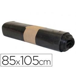 Bolsa basura industrial biznaga negra 85x105cm galga 120 rollo de 10 unidades