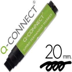Rotulador q-connect postermarker negro punta de fieltro 10-20 mm