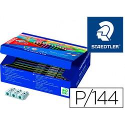 Lapiz de color staedtler wopex ecologico caja de 144 unidades surtidas 12 colores surtidos