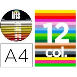 """Cartulina guarro din a4 185 gr contenido """"b"""" 100 hojas x 12 colores"""