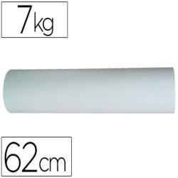 Papel blanco bobina de 62 cm 7 kg