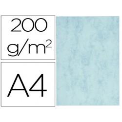 Cartulina marmoleada din a4 200 gr color azul paquete de 100 hojas