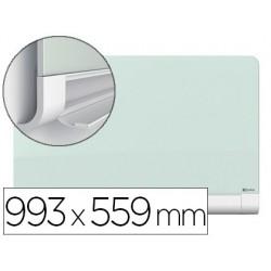 Pizarra blanca nobo diamond cristal magnetica esquinas redondas 993x559 mm