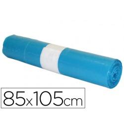 Bolsa basura industrial azul 85x105cm galga 110 rollo de 10 unidades