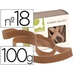 Bandas elasticas q-connect 100 gr 180 x 16 mm numero 18
