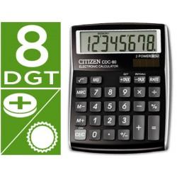 Calculadora citizen sobremesa cdc-80 bkwb 8 digitos negra