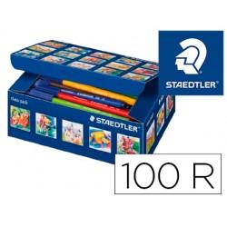 Rotulador staedtler noris club caja de 100 unidades surtidas 10 x color
