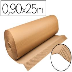 Carton ondulado q-connect 0,90x25 m 250 g/m2 kraft