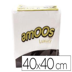 Servilleta celulosa amoos luxury 40x40 cm 2 capas paquete de 50 unidades