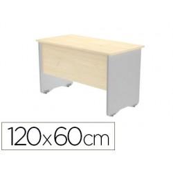 Mesa oficina rocada serie work 120x60 cm acabado aw04 blanco/blanco