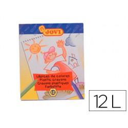 Lapices cera jovi hexagonal caja de 12 colores