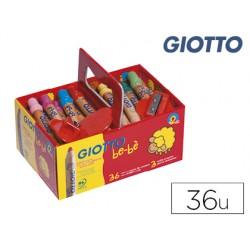 Lapices de colores giotto bebe super schoolpack de 36 unidades + 3 sacapuntas