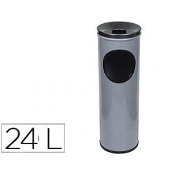 Cenicero papelera redondo 401 gris -metalico -medida 66x21.5 cm