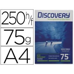Papel fotocopiadora discovery fast pack din a4 75 gramos papel multiuso ink-jet y laser caja de 2500 hojas