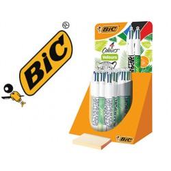 Boligrafo bic 4 colores velours expositor de 20 unidades surtidas 230x125x149 mm