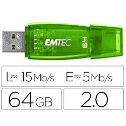 Memoria usb emtec flash c410 64 gb 2.0 verde