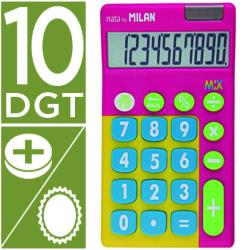 Calculadora milan mix 10 digitos rosa en blister