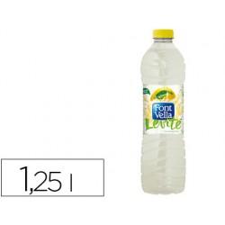 Agua mineral natural con zumo de limon font vella botella de 1,25l