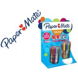 Boligrafo paper mate inkjoy gel 600 expositor de 60 unidades colores surtidos