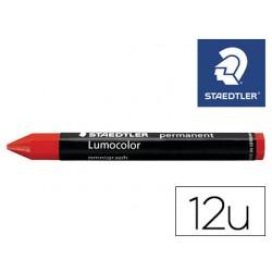 Minas staedtler para marcar rojo lumocolor permanente omnigraph 236 caja de 12 unidades