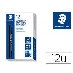 Minas staedtler para marcar negro lumocolor permanente omnigraph 236 caja de 12 unidades