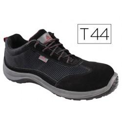Zapatos de seguridad deltaplus asti piel de serraje afelpado suela de composite negro talla 44