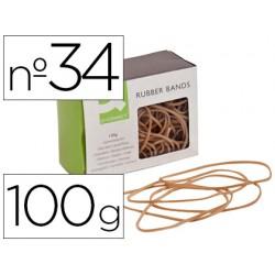 Gomillas elasticas q-connect 100 gr 100x3 mm numero 34