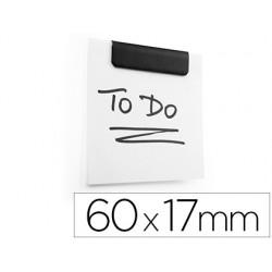 Pinza metalica durable durafix clip magnetica autoadhesiva 60x17 mm color negro bolsa de 5 unidades