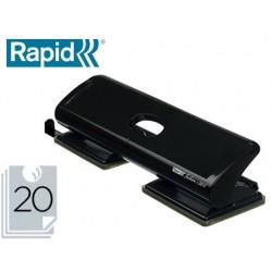 Taladrador rapid fashion fc20/4 metalico color negro 4 taladros capacidad 20 hojas